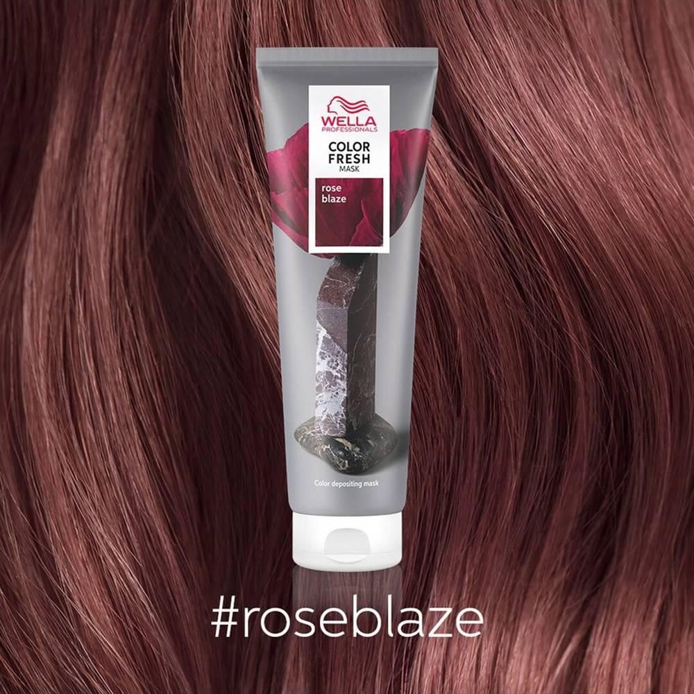 картинка Оттеночная маска для временного освежения цвета Roze Blaze Малиновый рассвет, 150 мл